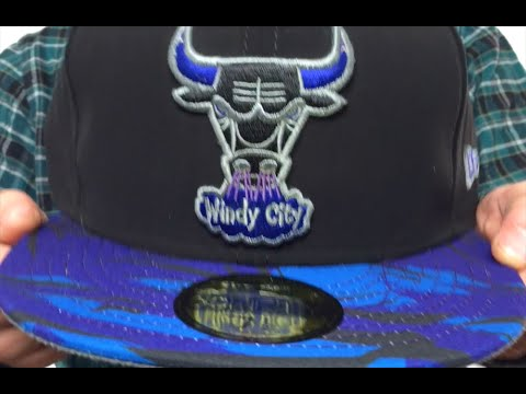 ecd60003cb3 Bulls  AQUA HOOK  Black-Multi Fitted Hat by New Era - YouTube
