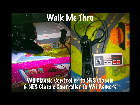 Classic Controller Pro On NES Classic & Nes Classic Controller On Wii Remote