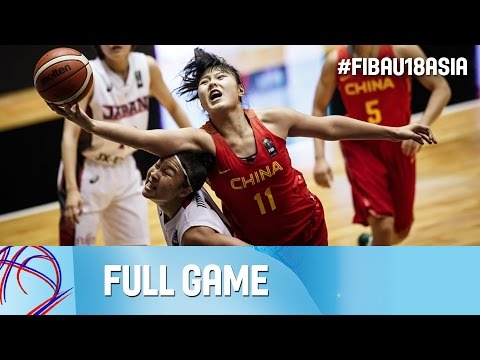 Japan v China - Live - Full Game - FIBA Asia U18 Championship for Women 2016