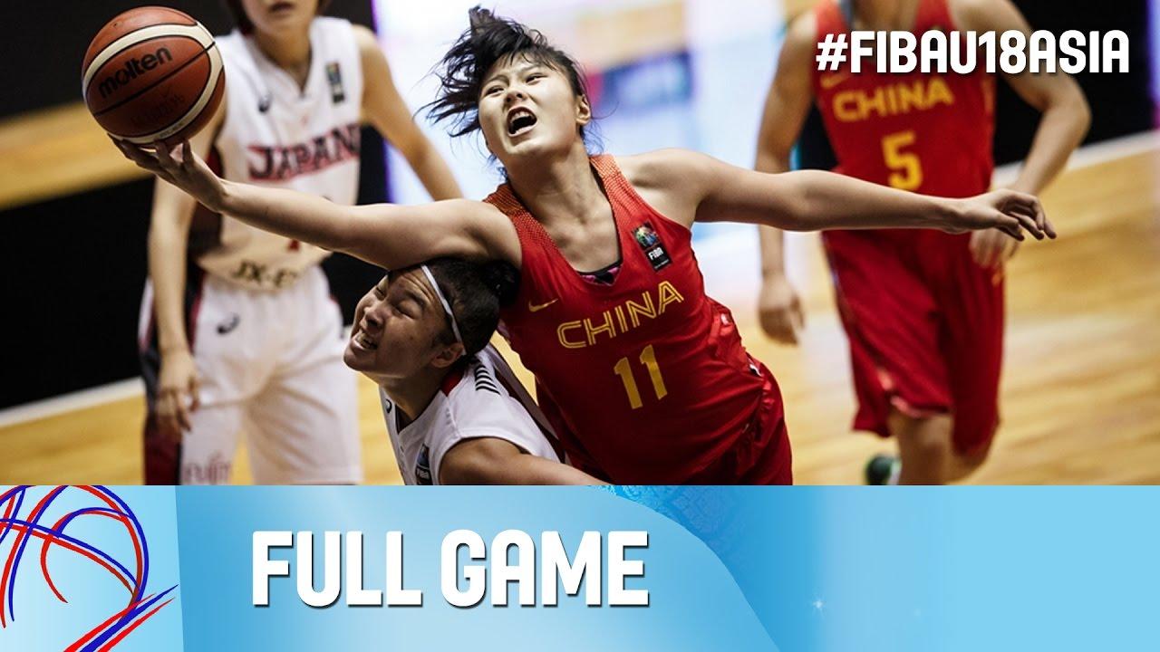 Japan v China - Live - Final - FIBA Asia U18 Championship for Women 2016