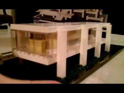 Lego 21009 farnsworth house lego architecture youtube for Lego house original