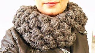 Häkeln XXL Puff-Stich Schal | Super kuschliger Winter | ganz einfach & schnell selber machen