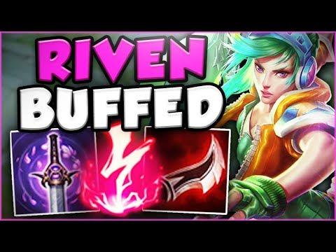 THESE NEW RIVEN BUFFS TURNED ME INTO BOXBOX?! NEW RIVEN SEASON 8 TOP GAMEPLAY! - League of Legends