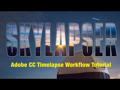 how to create a timelapse video with adobe