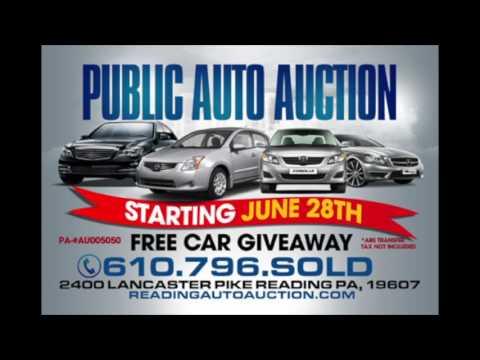 Public Auto Auction >> Reading Public Auto Auction Announcement Free Car Giveaway June 28th 2016
