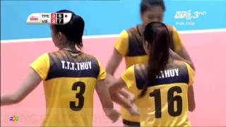 Chinese Taipei Vs Vietnam l 2016 Asian Women 39 s Cup Volleyball Chionship l Set 5