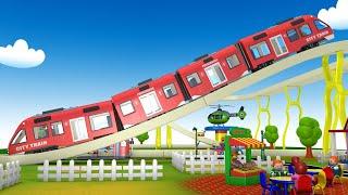 Choo Choo Train Service Cartoon   поезда для детей   बच्चों के लिए ट्रेन - Toy Factory