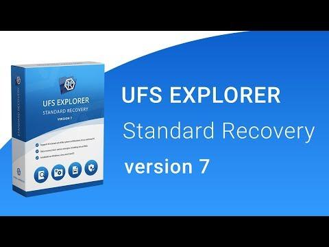 UFS Explorer Standard Recovery version 7 - presentation