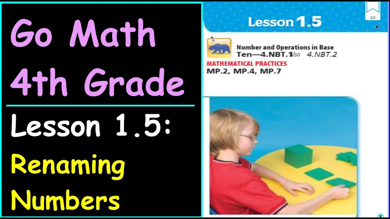 Go Math 4th Grade Lesson 1 5 Rename Numbers - YouTube
