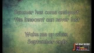 Video Wake Me Up When September Ends - Green Day lyrics download MP3, 3GP, MP4, WEBM, AVI, FLV Agustus 2017