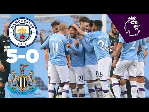 HIGHLIGHTS | Man City 5-0 Newcastle | Jesus, Mahrez, Silva,