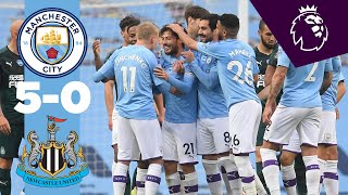 Highlights | Man City 5-0 Newcastle | Jesus, Mahrez, Silva, Sterling
