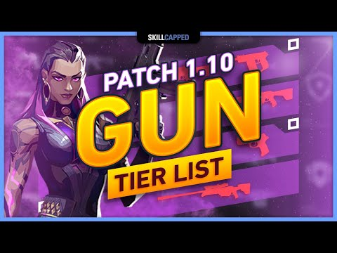 NEW BEST VALORANT GUNS TIER LIST - Patch 1.10