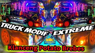 Naik Strobo,LED, Running text Lampu Tiang,bak,Bos Brebes Klanceng Potato's | Truck Mobile Legend