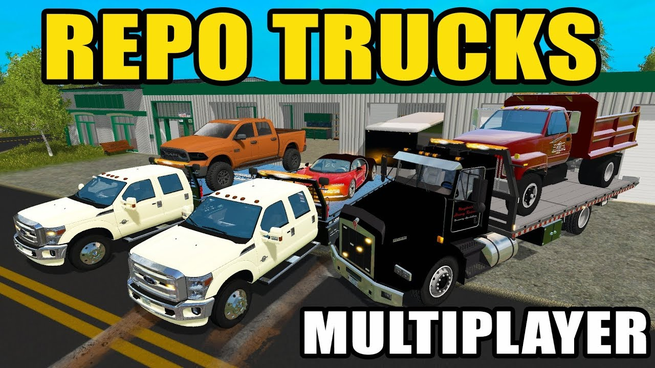 Multiplayer Repo | Dumptruck, F-350, Dodge 1500 & Rzr Repo | Farming  Simulator 2017  The Squad 13:53 HD