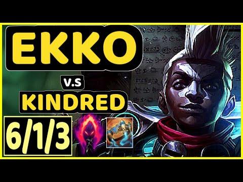 SEB (EKKO) Vs KINDRED - 6/1/3 KDA JUNGLE GAMEPLAY - OC Ranked MASTER