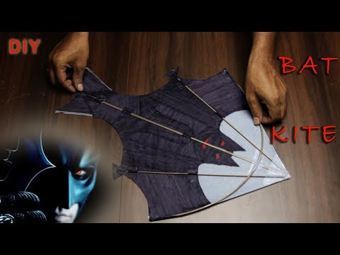 Kite Making | Bat Kite How to Make easily at Home | Patang making | 2019