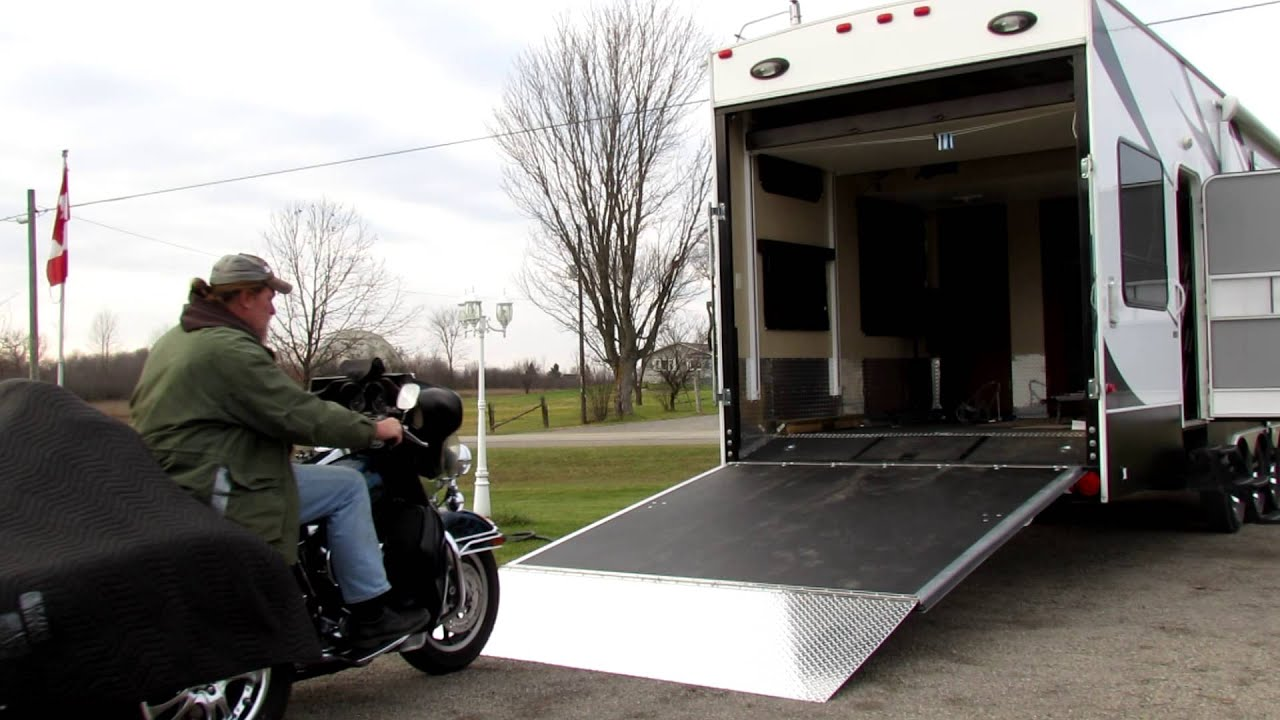 Loading Trike Into Toy Hauler Youtube