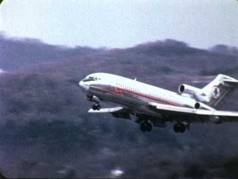 F 2218 American Airlines Boeing 727 At Charleston West Virginia Airport 1969