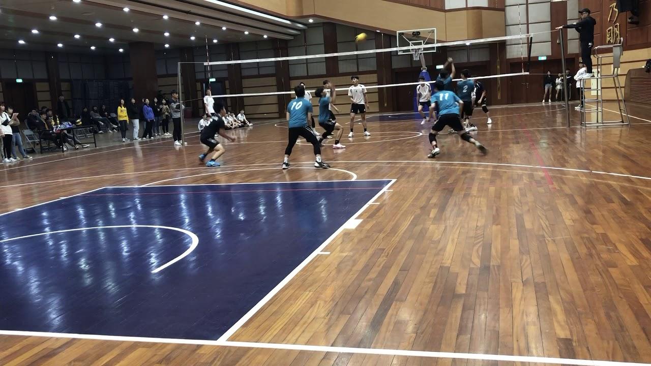 108排球聯賽 銘傳風保vs銘傳國企 第一局 - YouTube