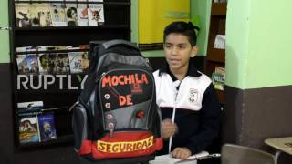 Mexico  11 year old designs bulletproof backpack in Matamoros