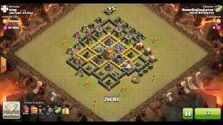 Clash of Clans TH6 vs TH7 Giant, Wizard & Archer Clan War 3 Star Attack
