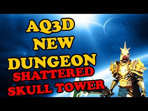 AQ3D- New dungeon shattered  skull Tower!!