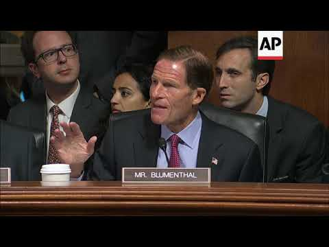 Democrats walk out of Kavanaugh hearing after US Senate committee sets vote