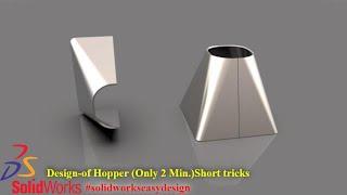 Solidworks Tutorial #122 Sheet Metal Hopper in Solidworks by Solidworks Easy Design