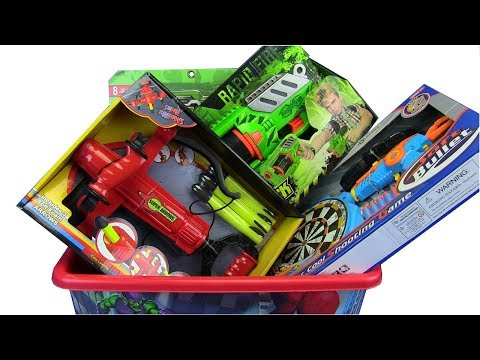 Box Of Toys ! Guns Toys BUG ATTACK,Soft Bullet,Super Arrows .. Toys For Kids
