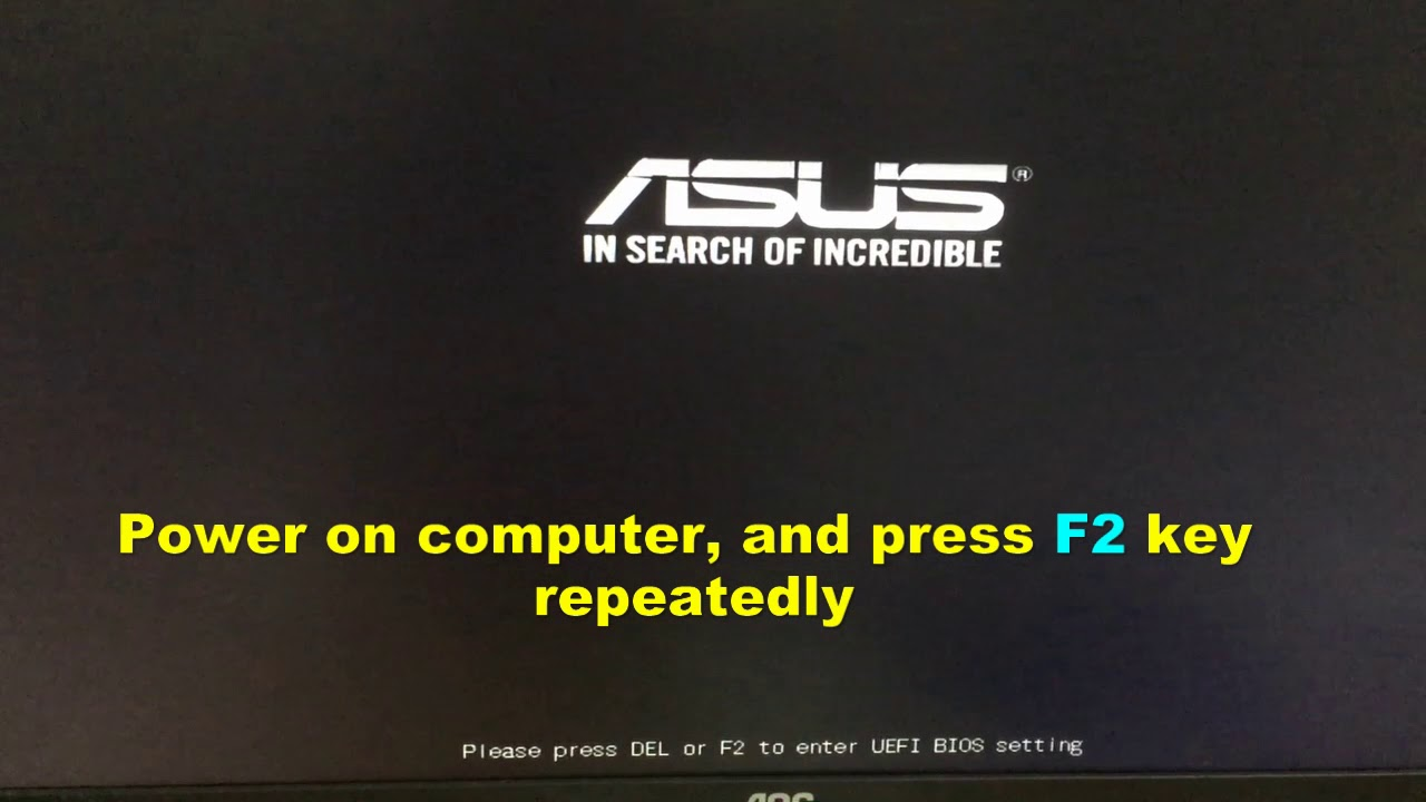how to reset a asus laptop without password