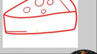 How to draw cheese cake for How to draw cheese step by step
