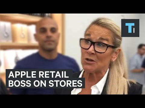 Apple retail boss on stores