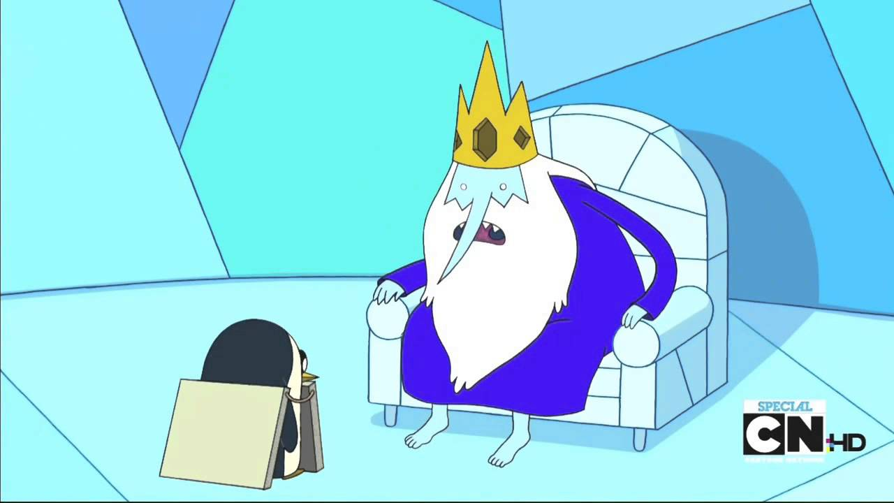 Adventure Time The Lich Ice King Talks To Penguin Crown Jewls Funny Youtube