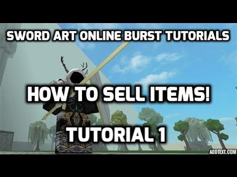 Sword art online burst roblox how to sell items youtube for Sell art prints online