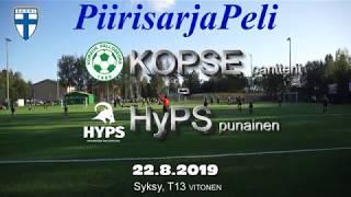 Piirisarja T13 KOPSE Pantterit vs HYPS Punainen