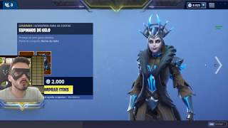 NEW SKIN QUEEN OF ICE AND NEW GESTURE AT FORTNITE! MONDAY DAY 21/01/2019--🦷 🦷-