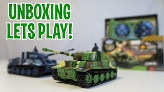 Unboxing & Let's Play - MIN 1:71I RC TANKS - SGILE Remote Control German Tiger Panzer Tank