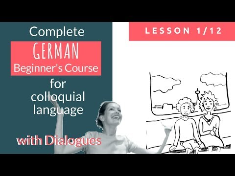German lessons complete german beginners course lesson 1 learn with authentic dialogues fandeluxe Image collections