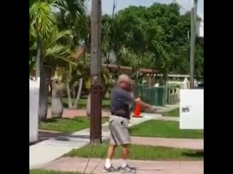 Retired South Florida firefighter shoots up AT&T utility trucks outside Hialeah home