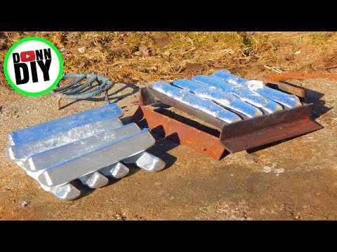 Melting Aluminium In The Mini Metal Foundry - Melting Aluminum #1