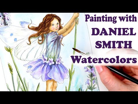 Using Daniel Smith Watercolors for my 3rd Flower Fairy Study The Lavender Fairy