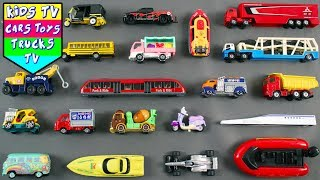 Street Vehicles For Kids Children Babies Toddlers | School Bus Tow Truck Cement Mixer Van Car Bike