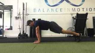 Single Arm Glider Push Up
