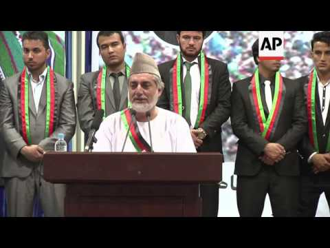 Opposition presidential candidate Abdullah Abdullah makes last push before elections