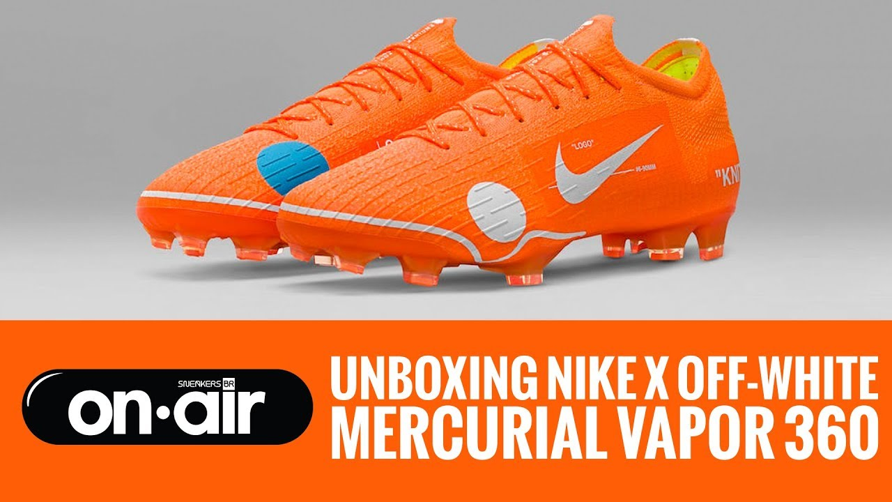 d0e73f31ed9 SBROnAIR Vol. 66 - Unboxing Nike X OFF-White - Mercurial Vapor 360  #piranomeuair