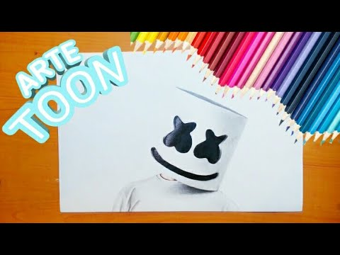 Como Dibujar A Marshmello Realista How To Draw Marshmallow