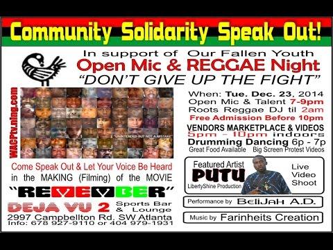 MAJOR Community Solidarity Speak OUT in Atlanta!!