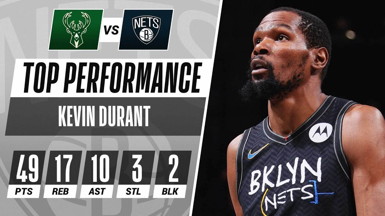 Download Kevin Durant's 49-PT Triple-Double Powers Nets to Game 5 W! 🤯