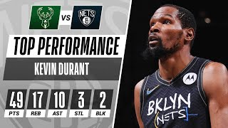 Kevin Durant's 49-PT Triple-Double Powers Nets to Game 5 W! 🤯